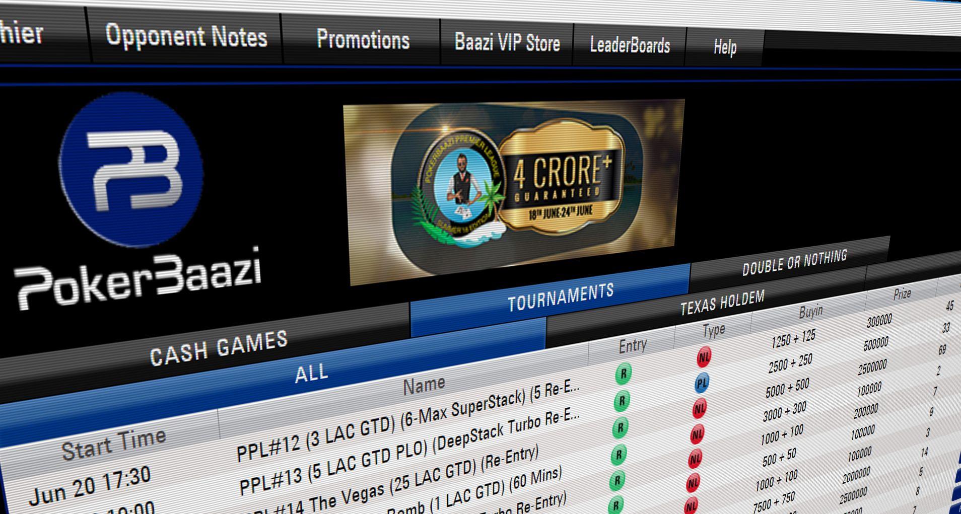 PokerBaazi is a poker games